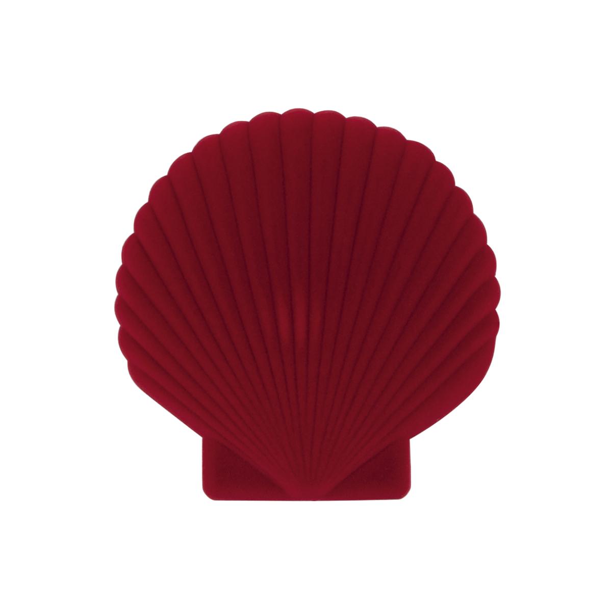 Boîte à bijoux en feutrine rouge