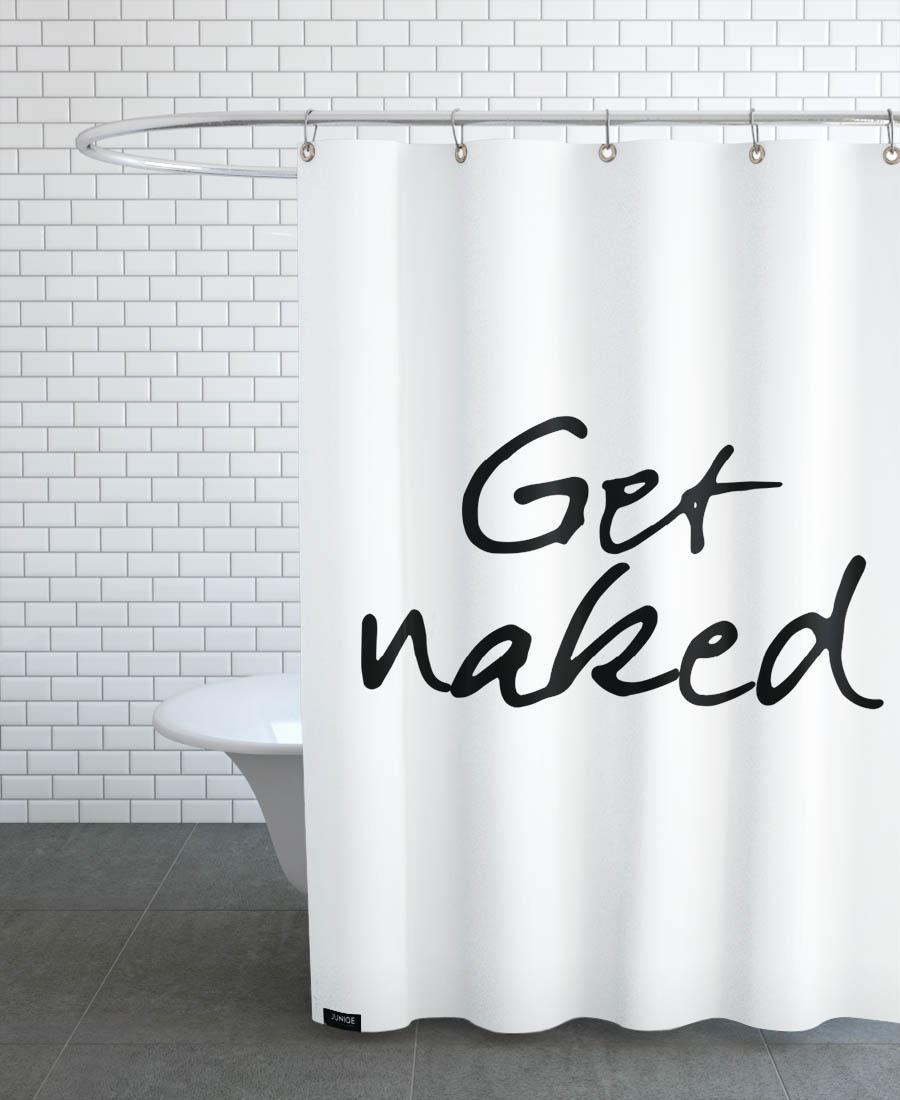 Rideau de douche en polyester en Blanc & Noir/150x200