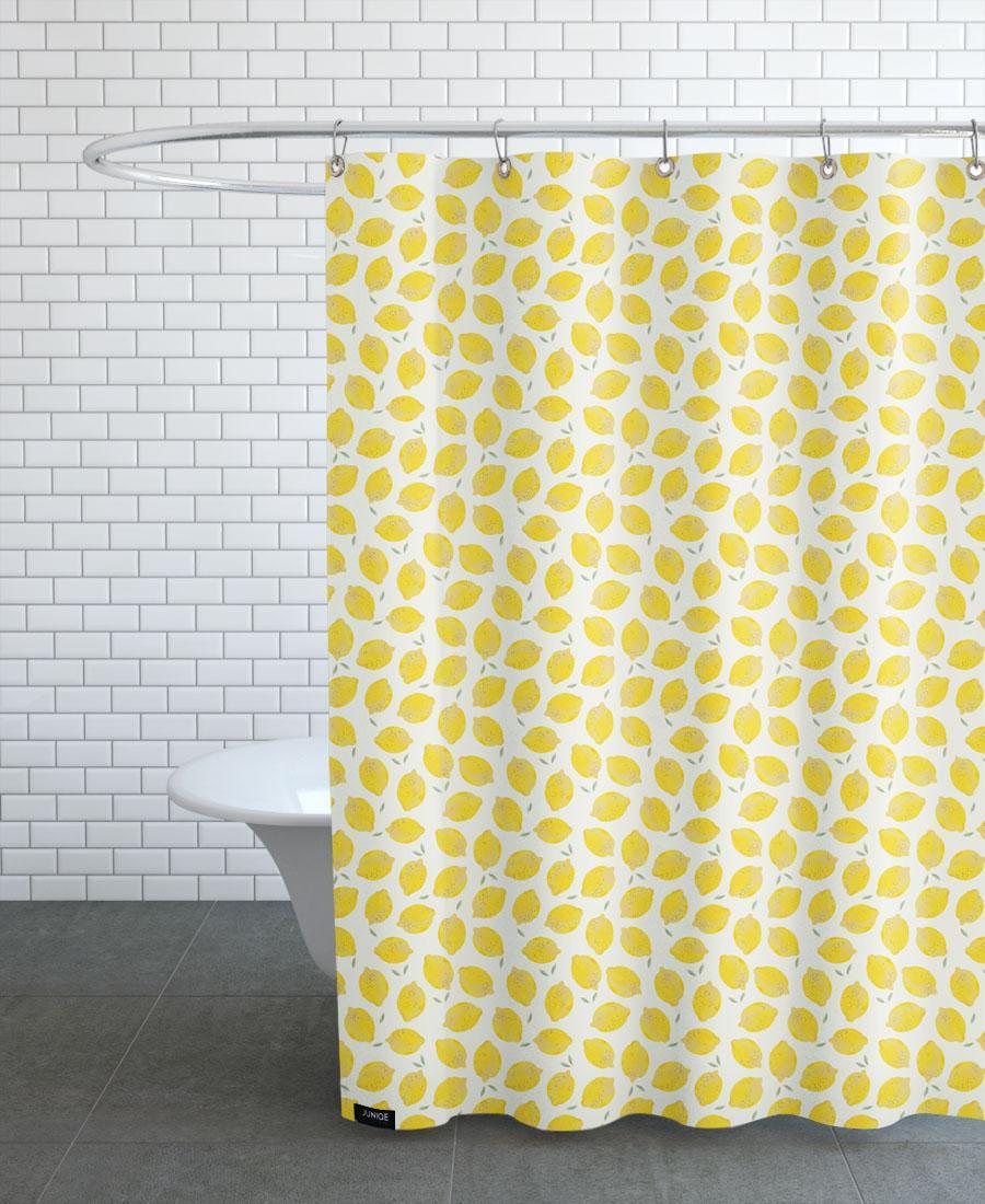 Rideau de douche en polyester en Jaune & /150x200