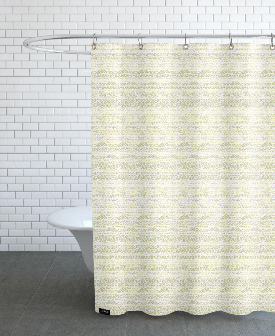 Rideau de douche en polyester en Jaune/150x200