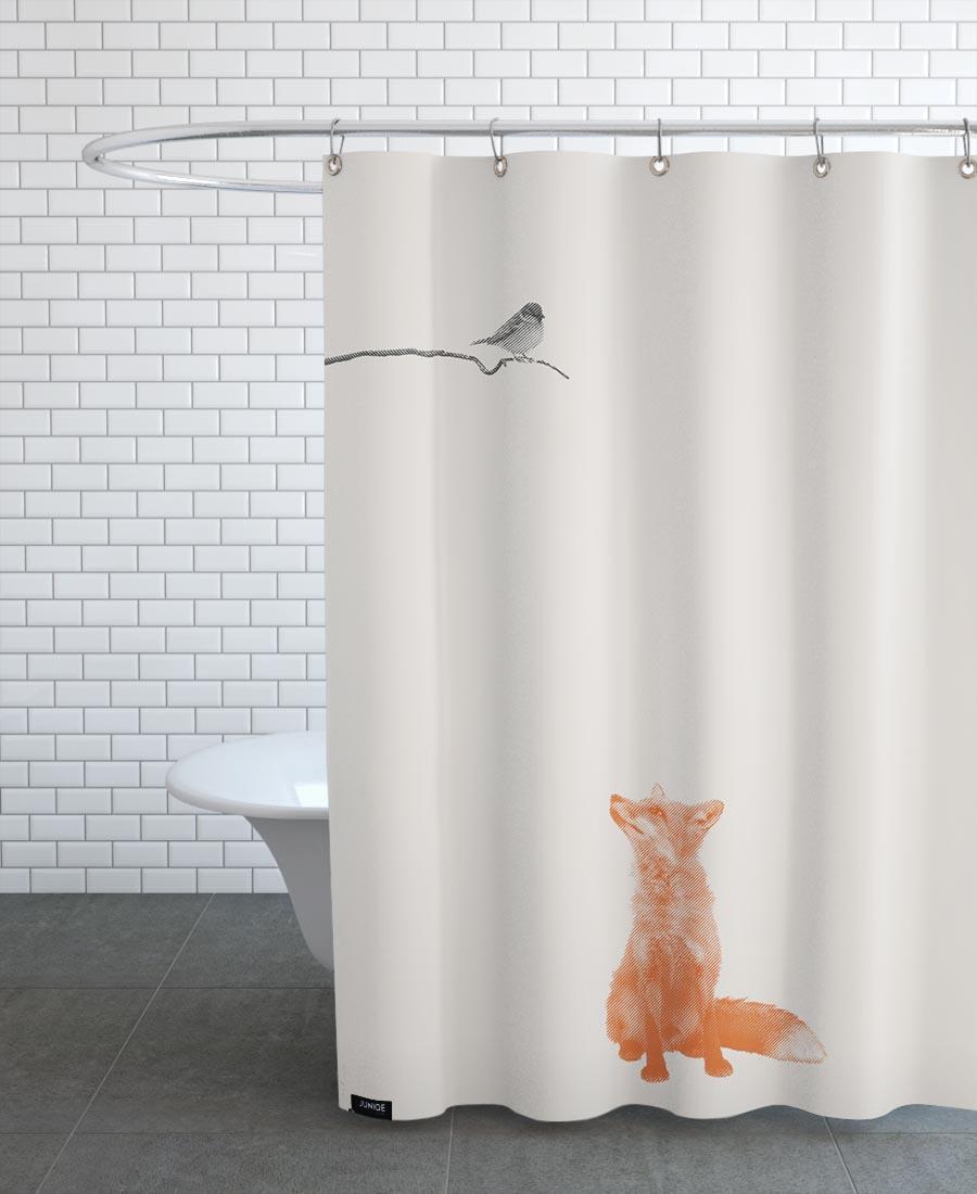 Rideau de douche en polyester en Marron & Noir/150x200