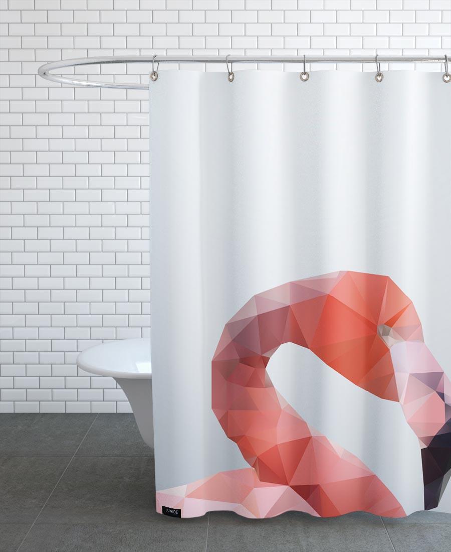 Rideau de douche en polyester en Rose & Rouge/150x200