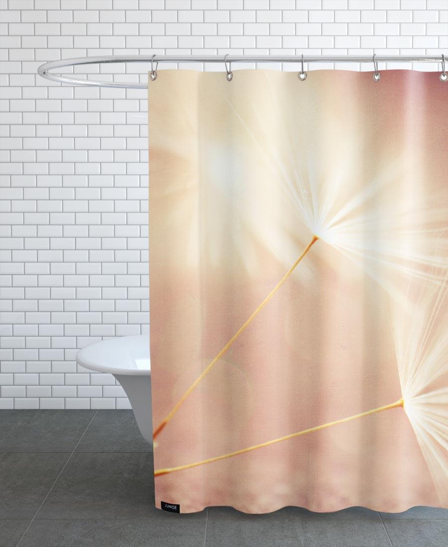 Rideau de douche en polyester en Marron/150x200