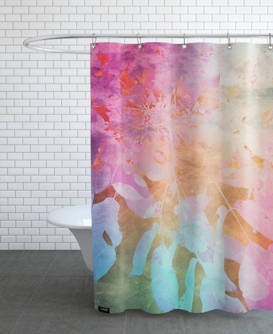 Rideau de douche en polyester en Rose/150x200