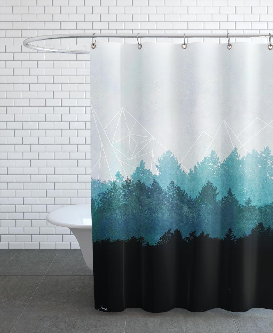Rideau de douche en polyester en Blanc & Blanc ivoire/150x200