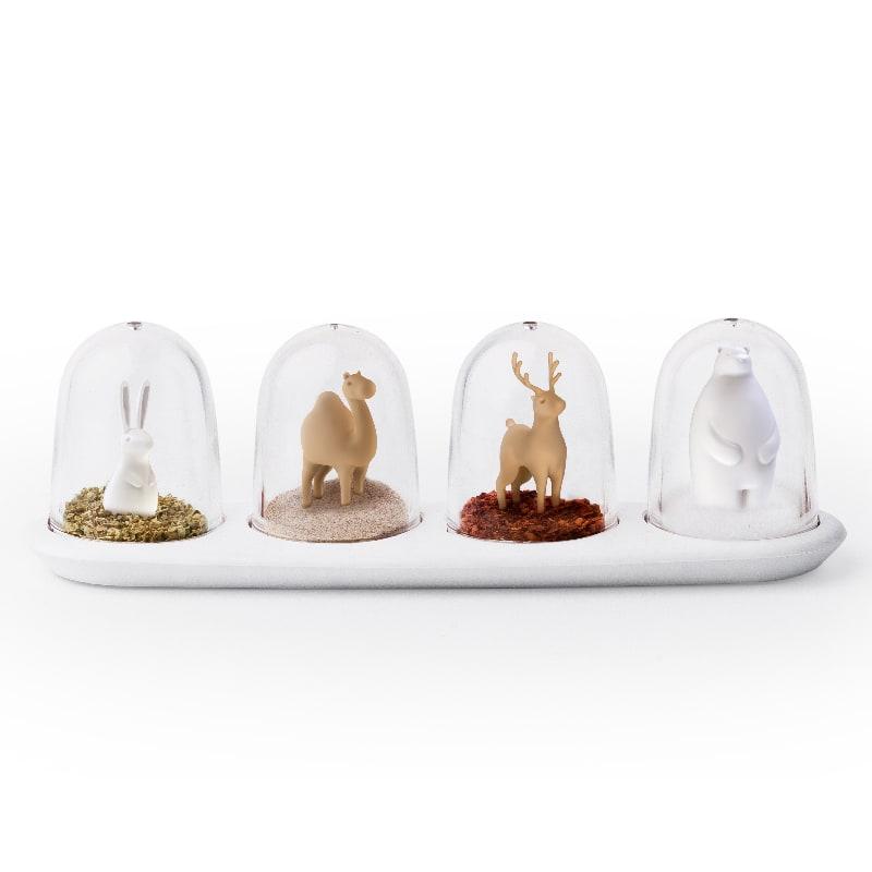 Boîte à épices animaux - Lot de 4