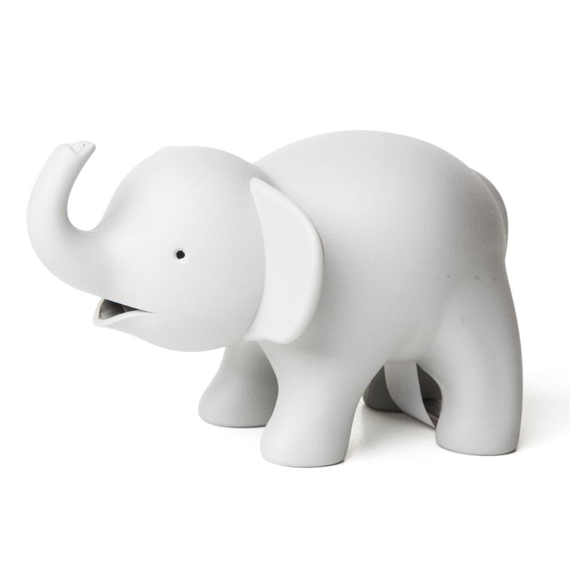 Dévidoir de ruban adhésif éléphant gris