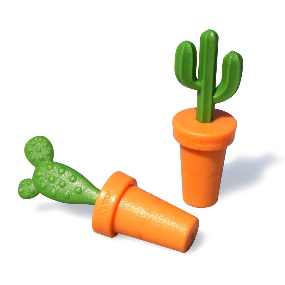Bouchon de bouteille cactus - Lot de 2