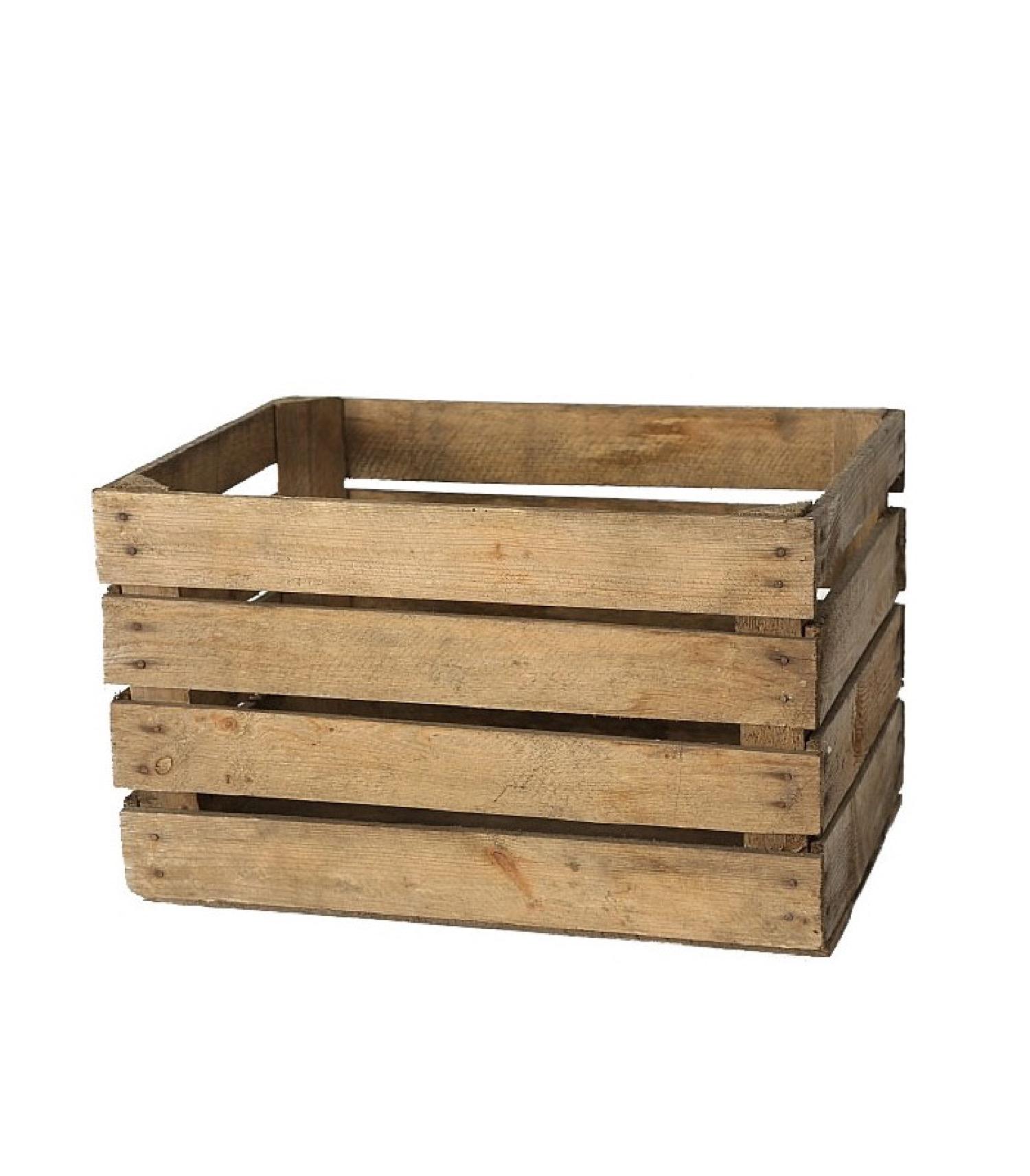 Caisse en bois style caisse à fruits