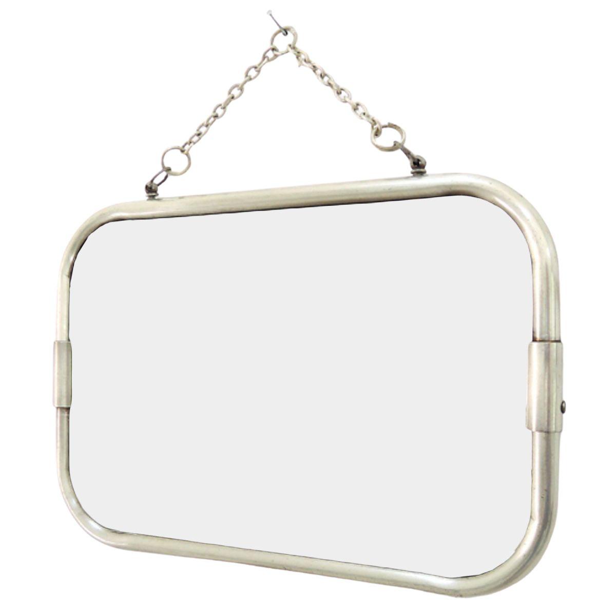 Miroir de barbier pm argent 20x29