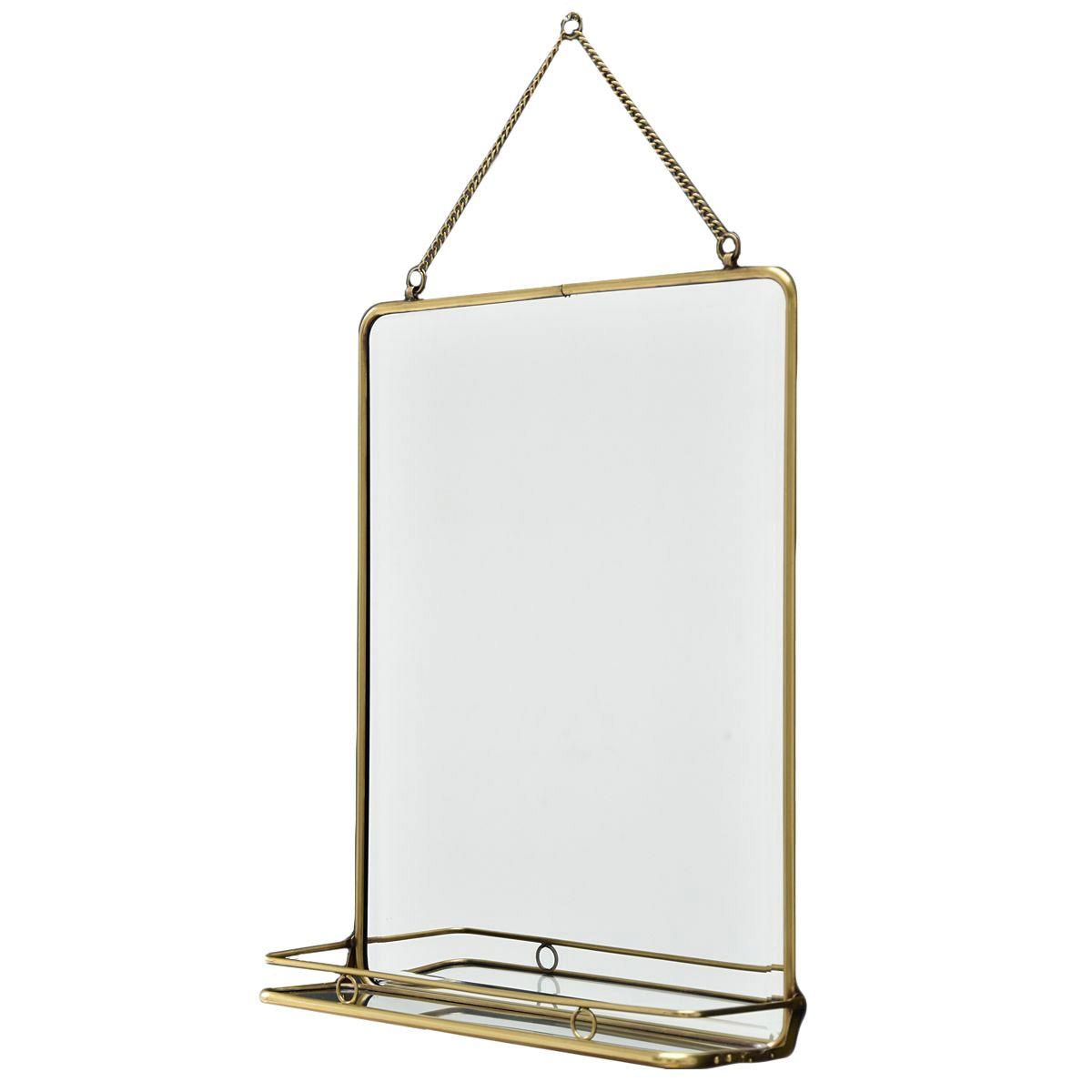 Miroir en laiton or 41x52