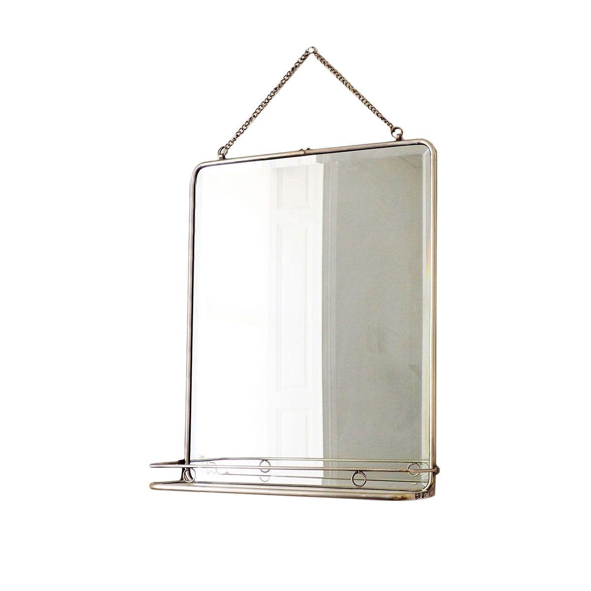 Miroir de barbier argent 41x52