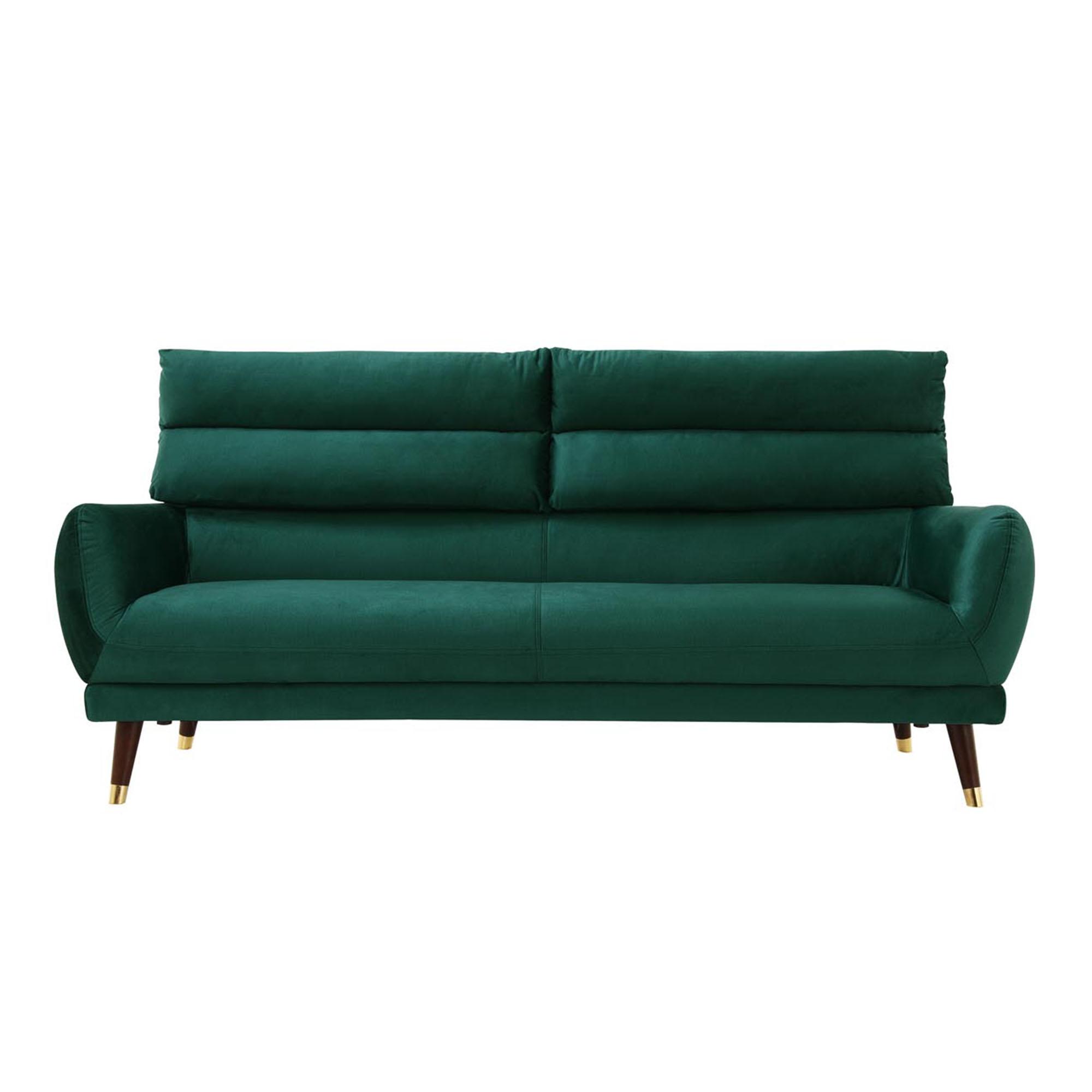 Canapé velours vert émeraude imperméable 3 places