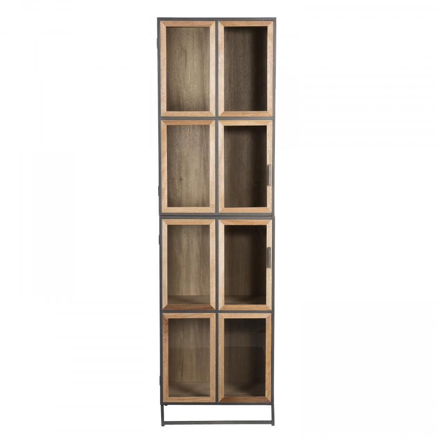 Bibliothèque 4 niveaux portes vitrées