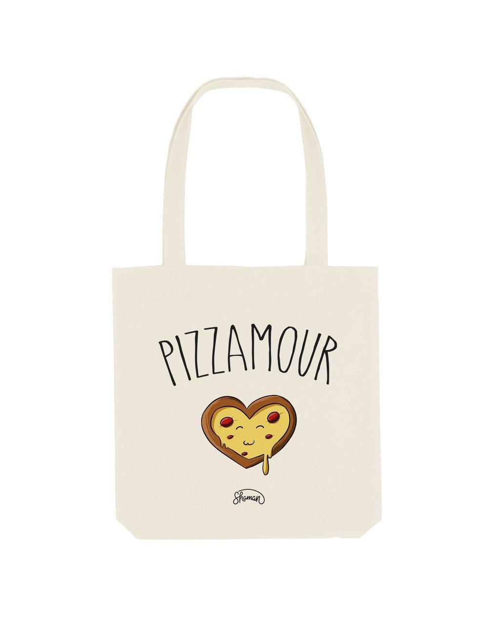 PIZZAMOUR - Tote Bag  Natural  en coton