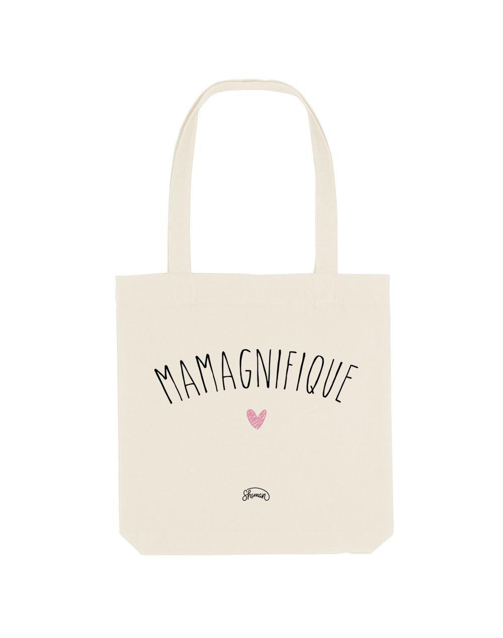 MAMAGNIFIQUE - Tote Bag  Blanc  en coton