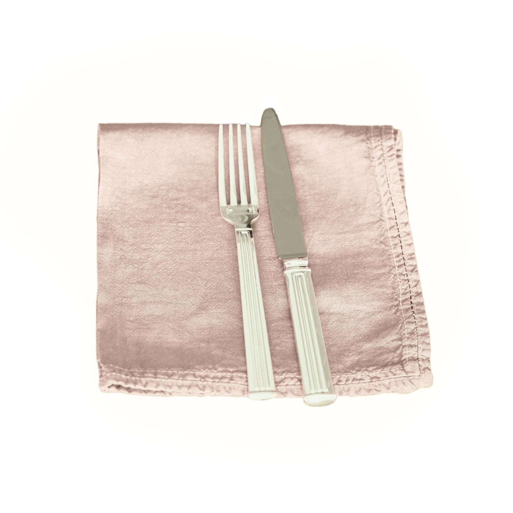 Serviette de table lin pur lavé Rose Pâle