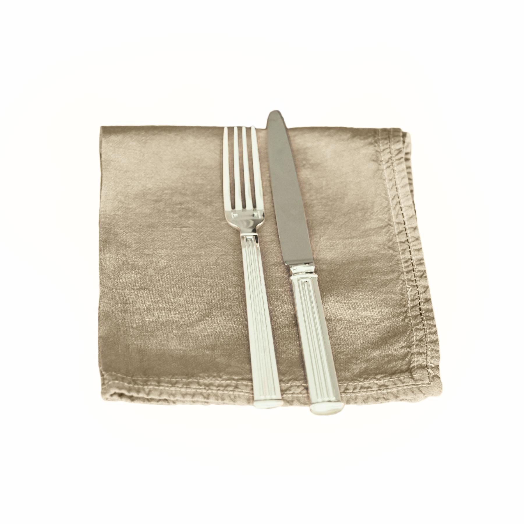 Serviette de table Lin pur lavé Sable 45x45