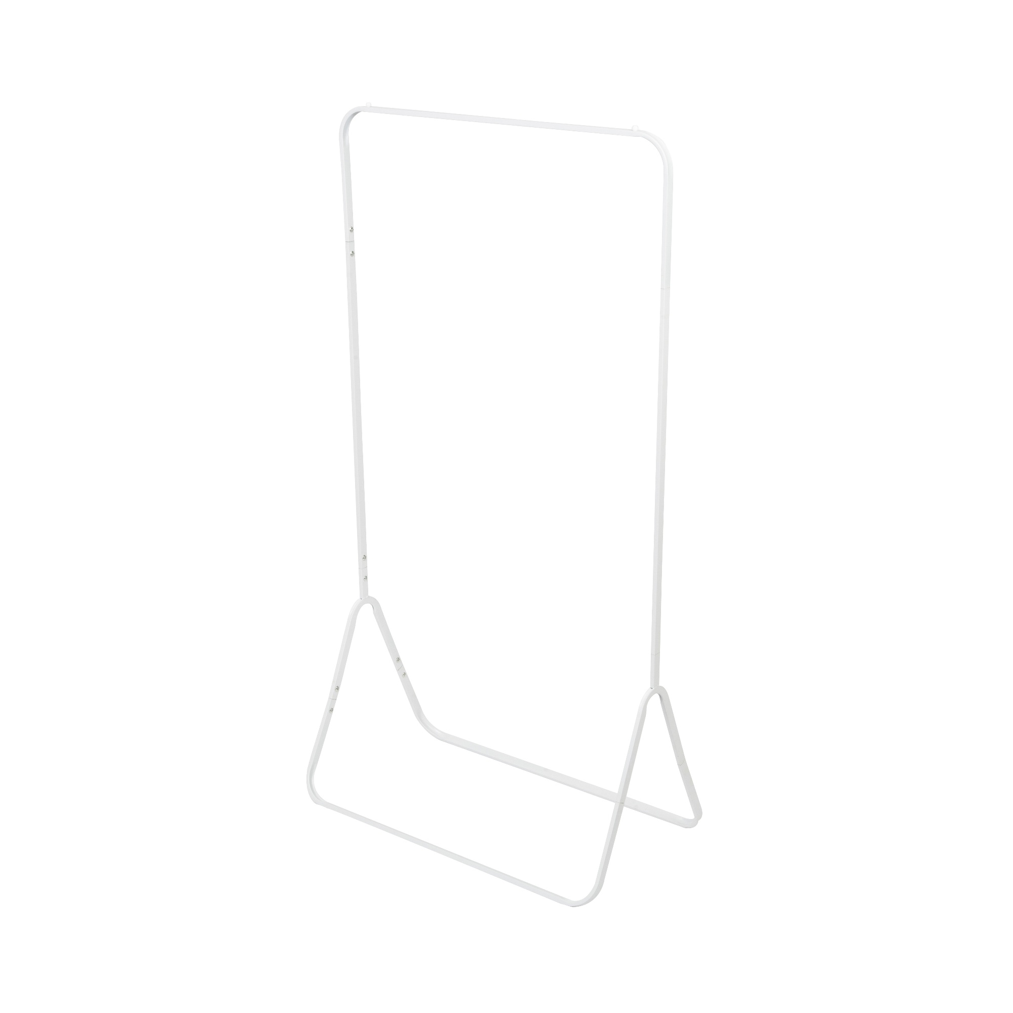 Portant à vêtements en acier blanc H150,5cm