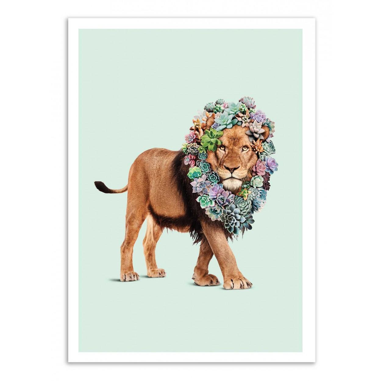 SUCCULENT LION - Affiche d'art 50 x 70 cm