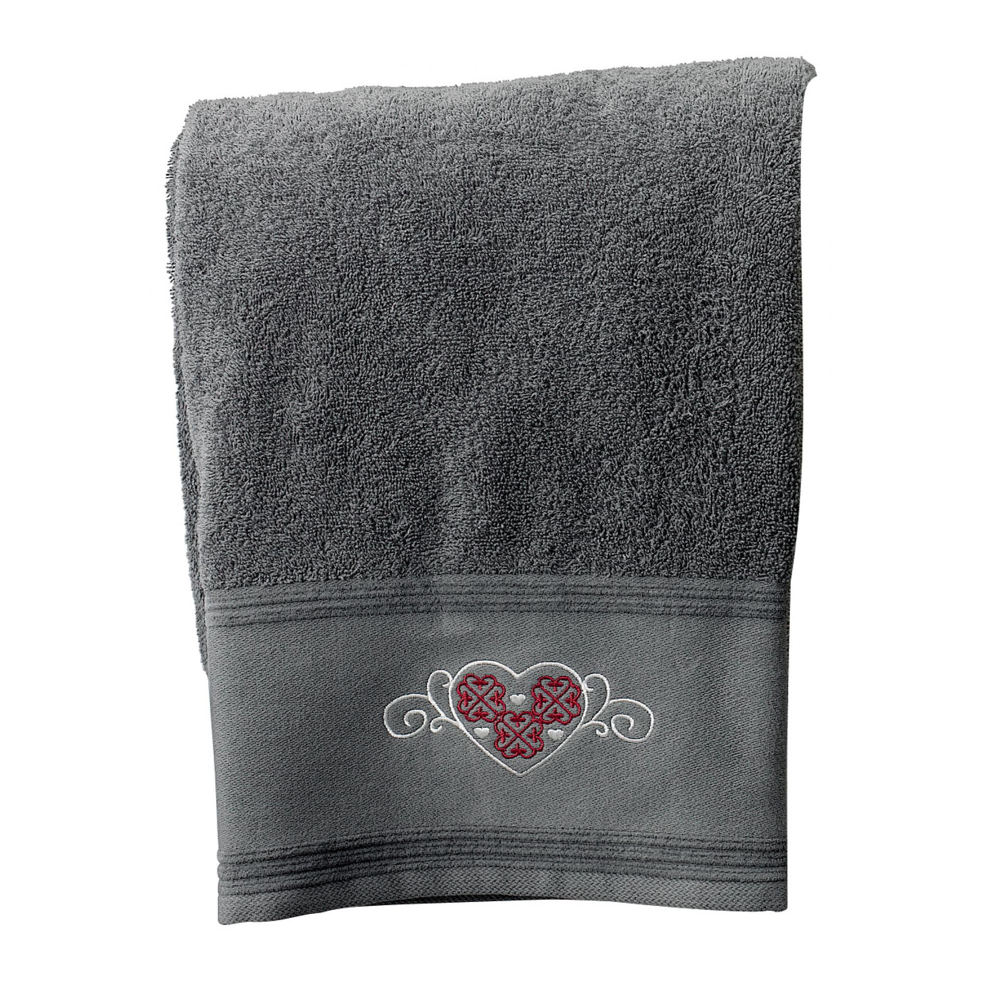 Drap de bain Cosy en coton ombre 80 x 150