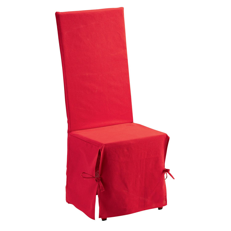 Housse de Chaise en coton rouge 35 x 35 x 116