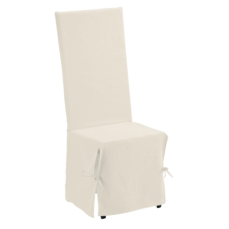 Housse de Chaise en coton ivoire 35 x 35 x 116