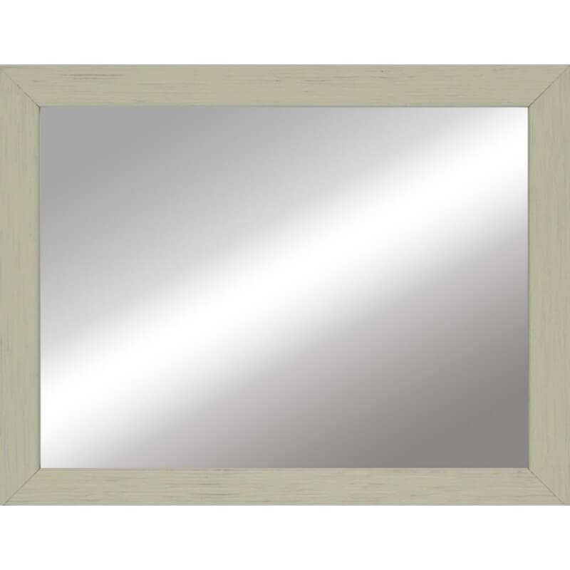 Miroir en bois reconstitué vert clair 44x55