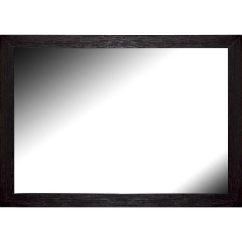 Miroir en bois reconstitué noir 44x55