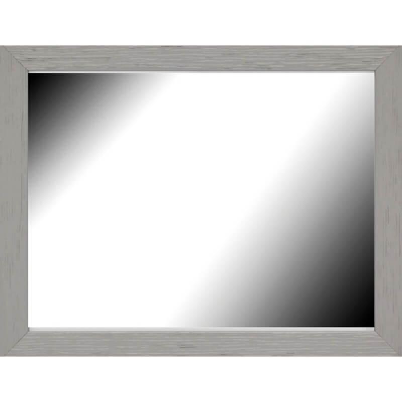 Miroir en bois reconstitué gris 44x55