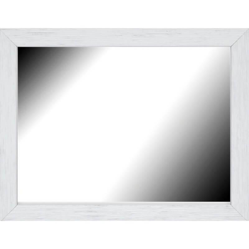 Miroir en bois reconstitué blanc 44x55