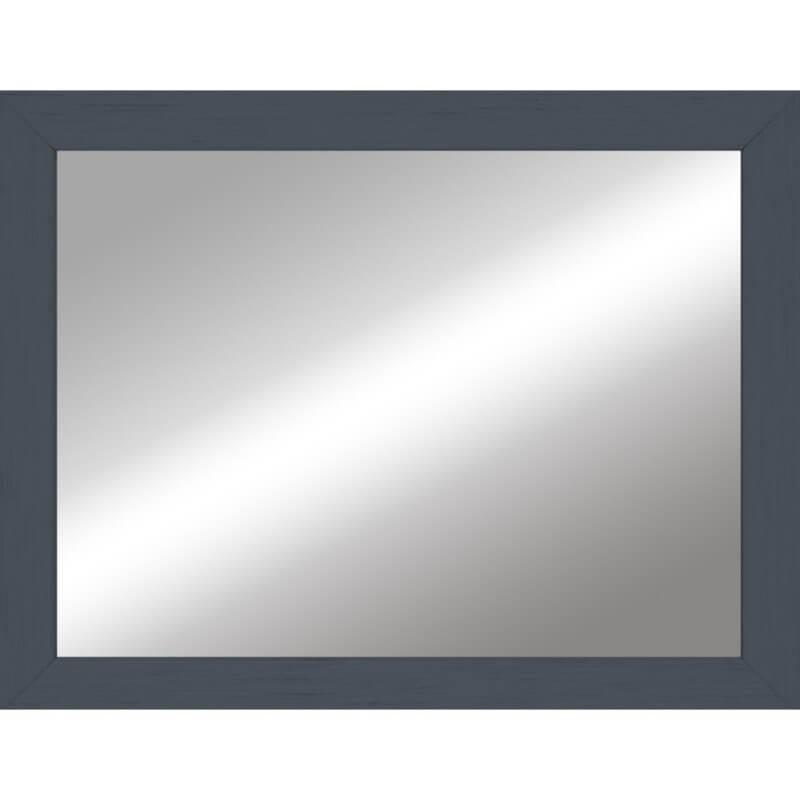Miroir en bois reconstitué bleu 44x55