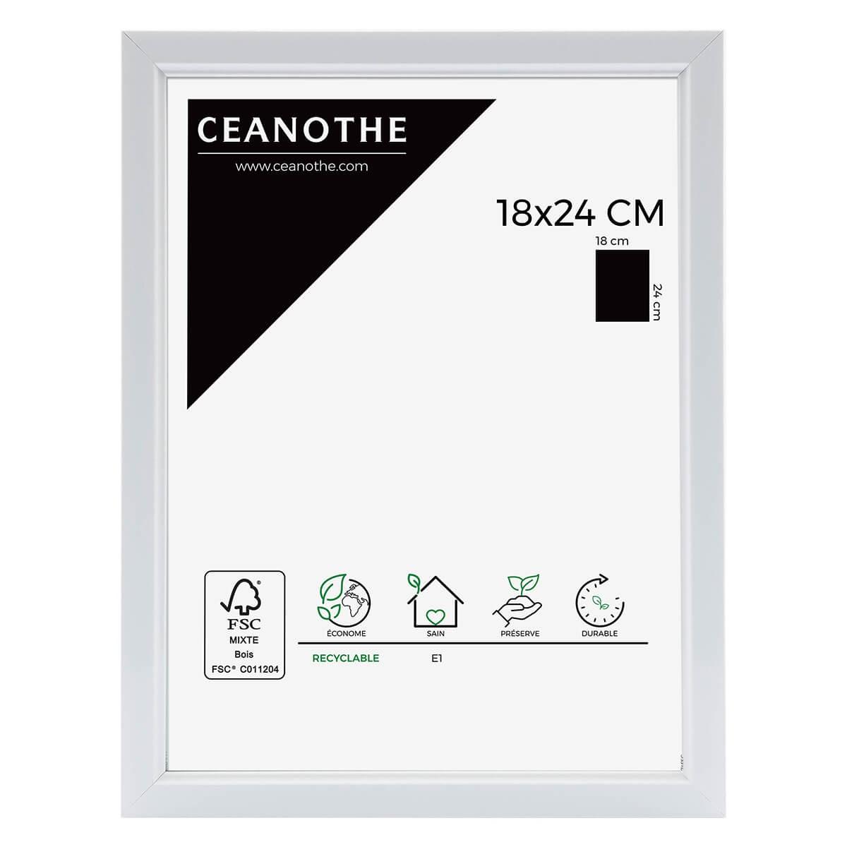Cadre photo blanc résine plastique 18x24