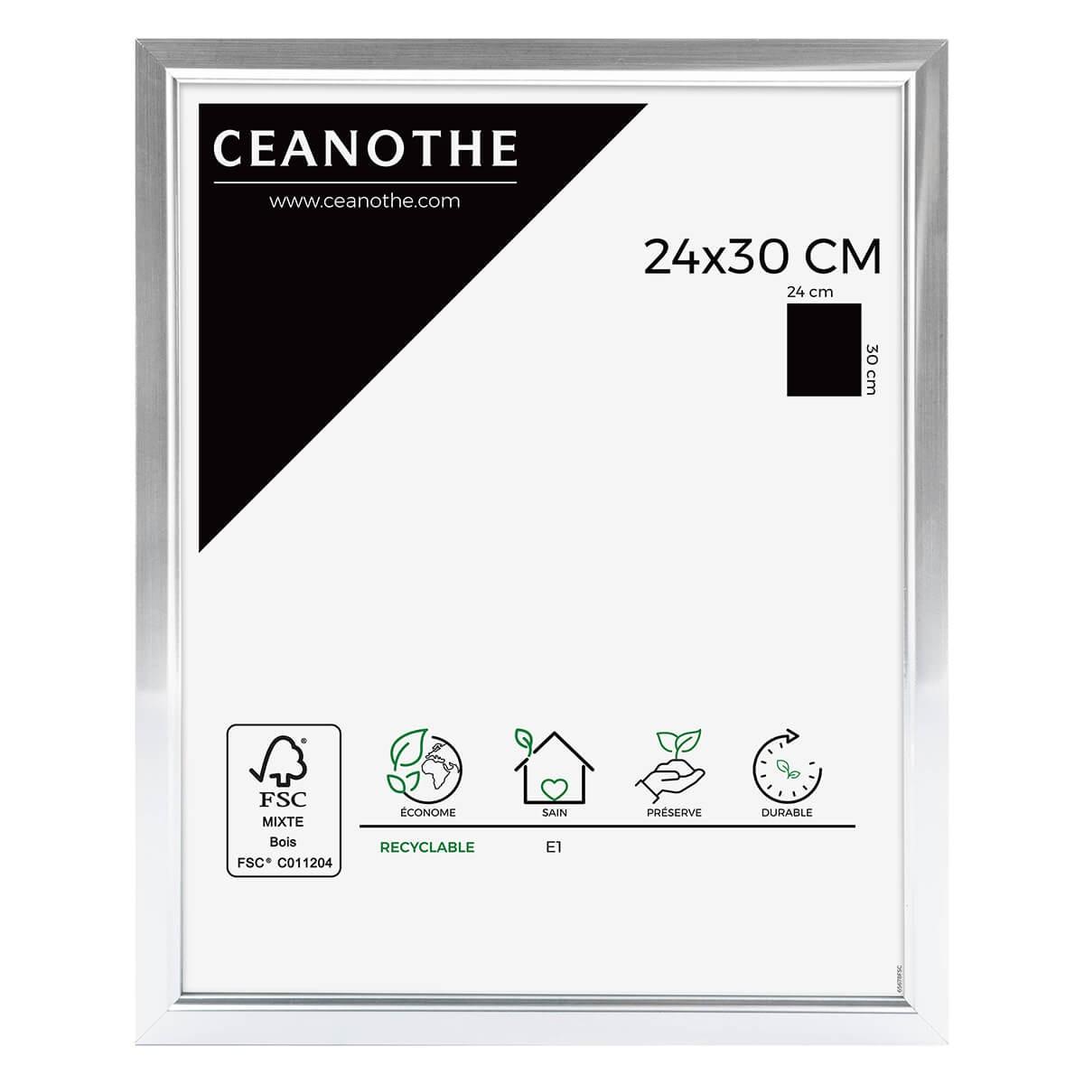 Cadre photo aluminium résine plastique 24x30