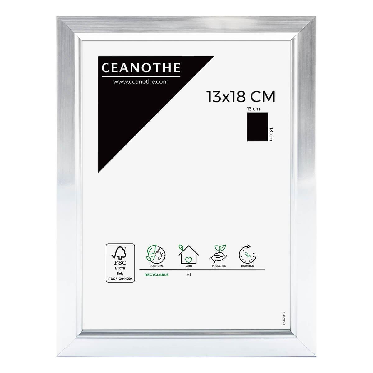 Cadre photo aluminium résine plastique 13x18