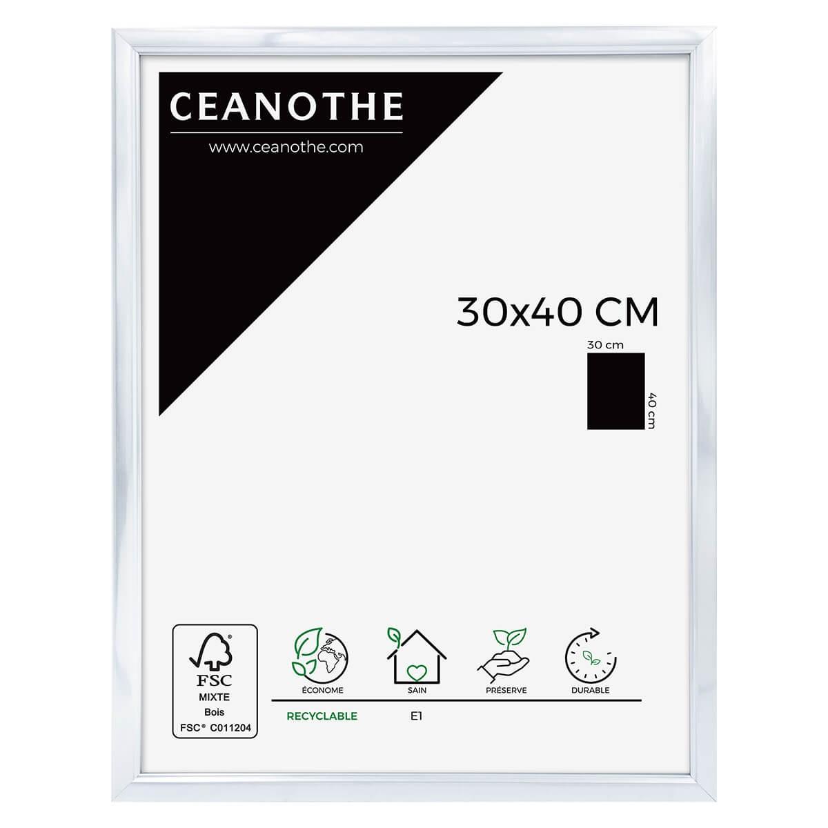Cadre photo aluminium résine plastique 30x40