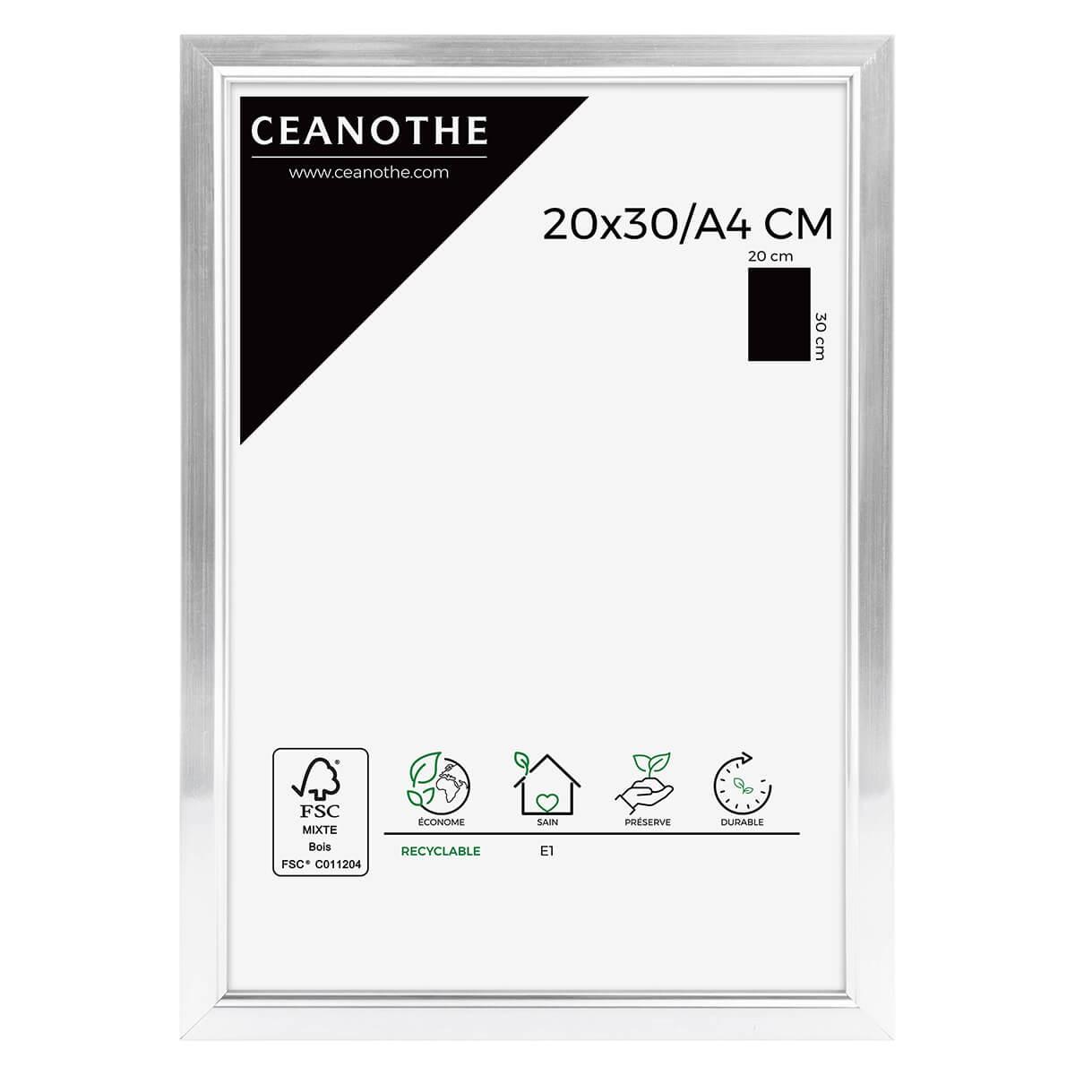 Cadre photo aluminium résine plastique 20x30