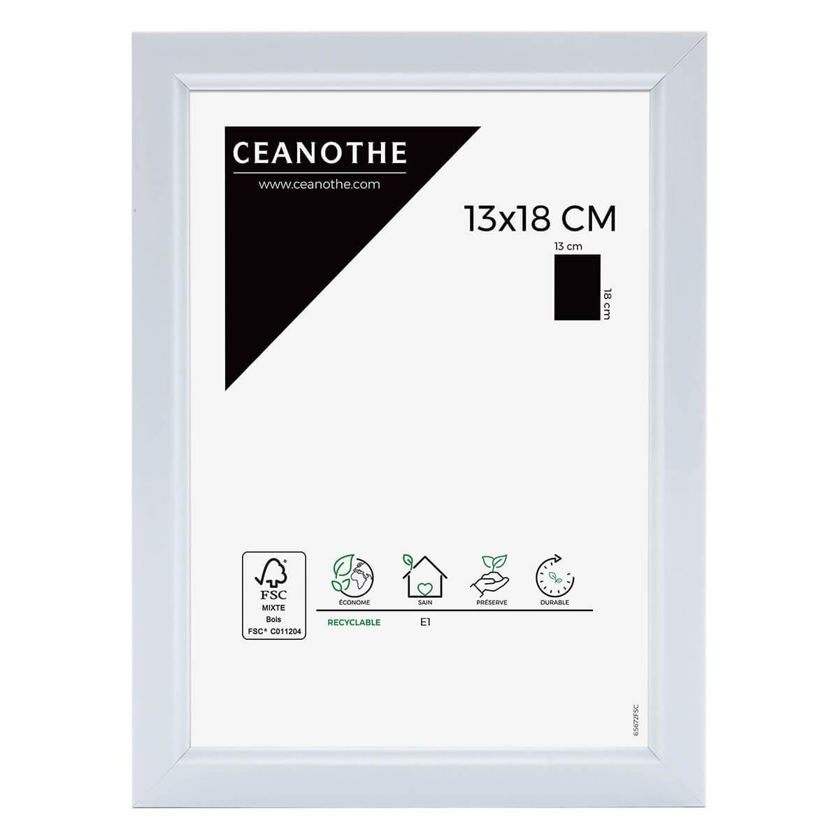 Cadre photo blanc résine plastique 13x18