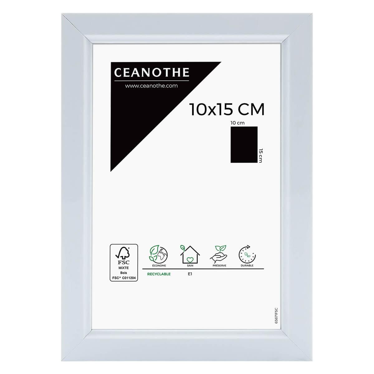 Cadre photo blanc résine plastique 10x15