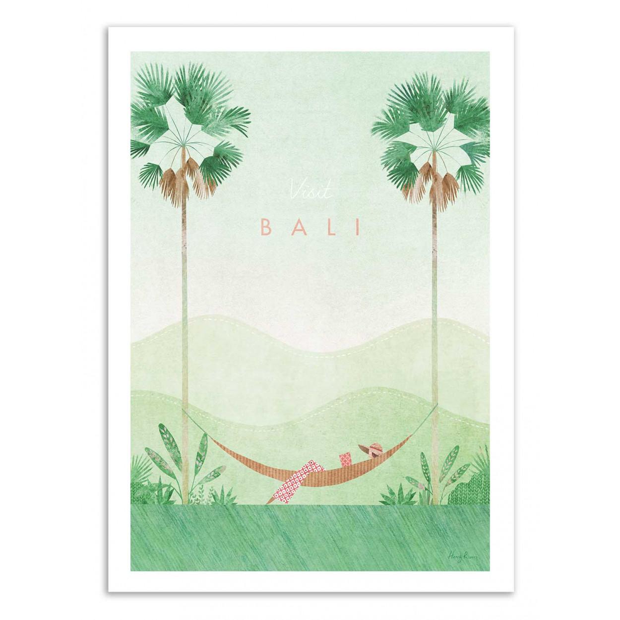 VISIT BALI -  Affiche d'art 50 x 70 cm