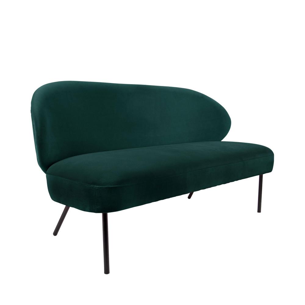 Canapé 2 places en métal vert forêt