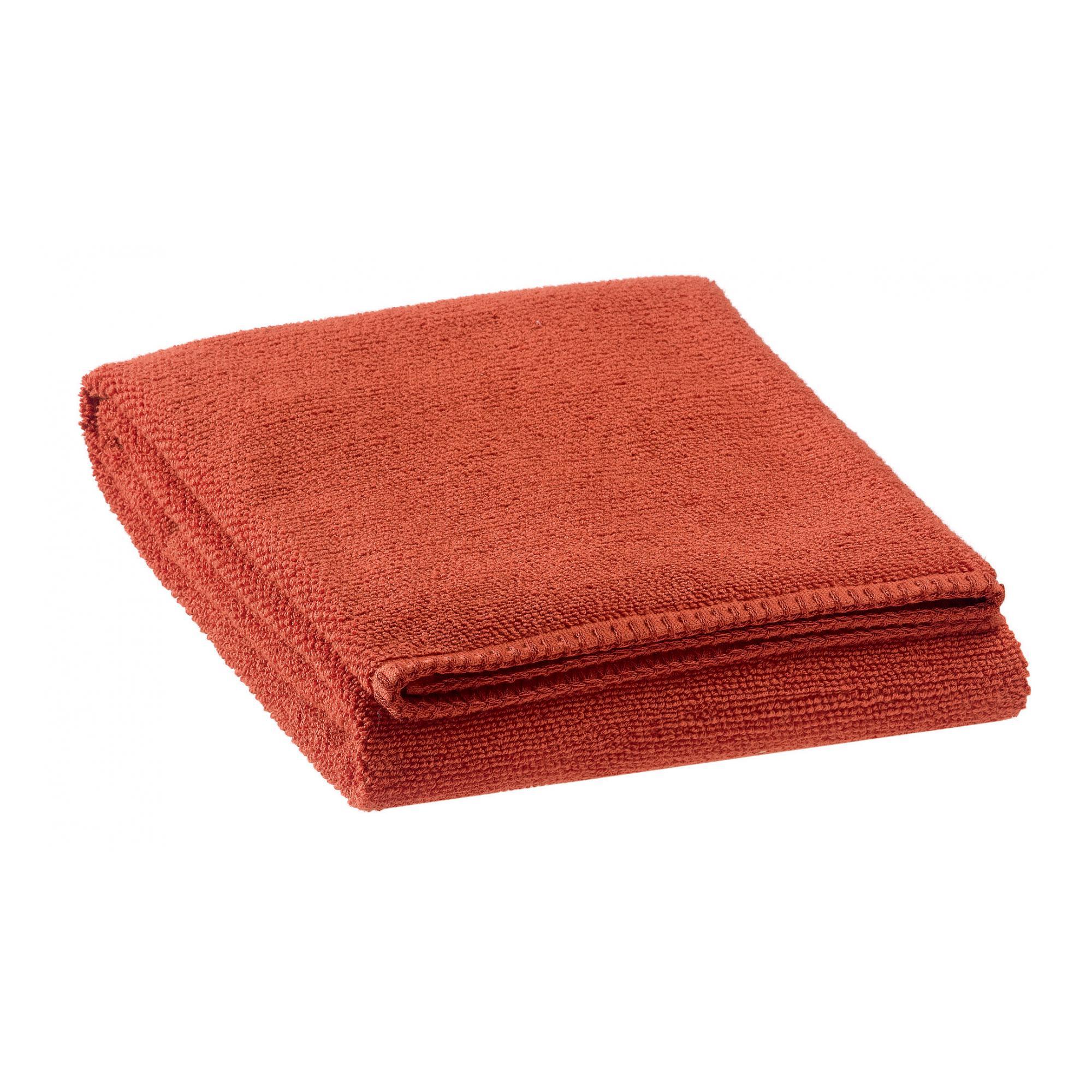 Drap de douche en coton rooibos 70 x 130