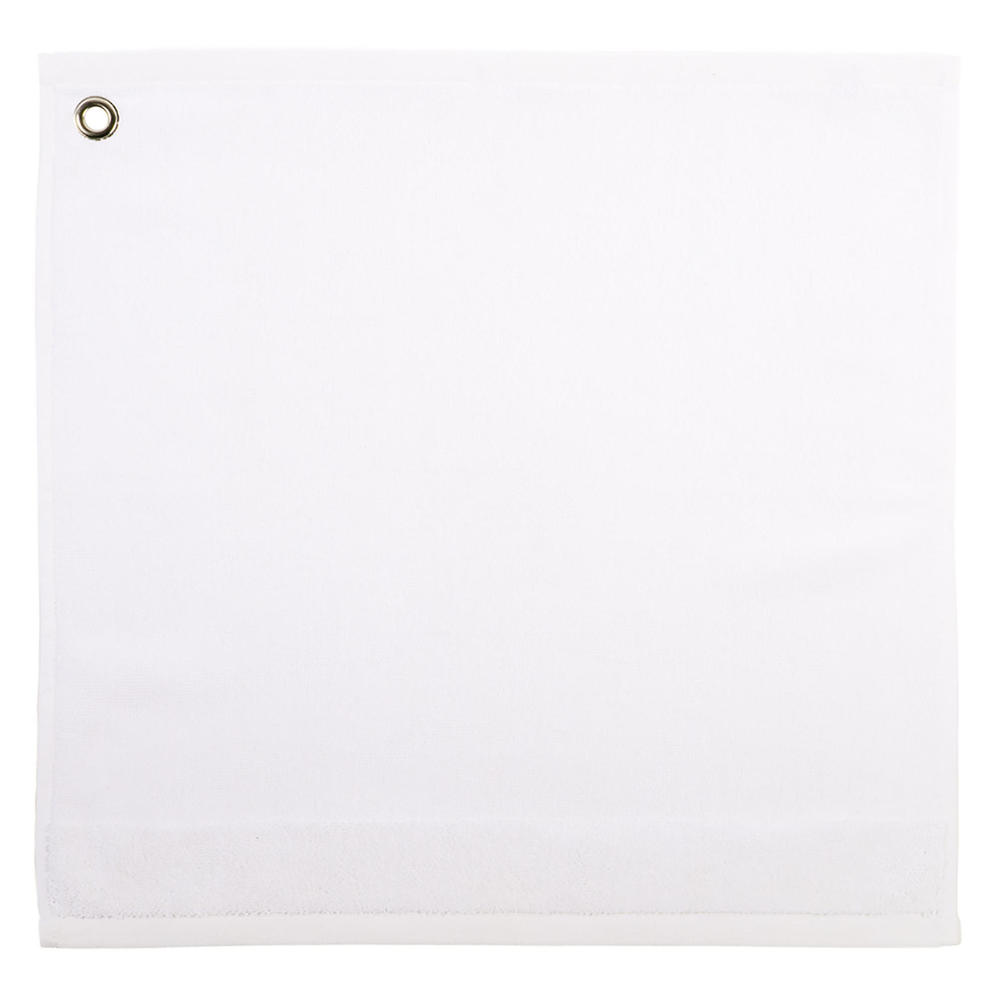 Essuie-mains en 100% coton blanc 50x50