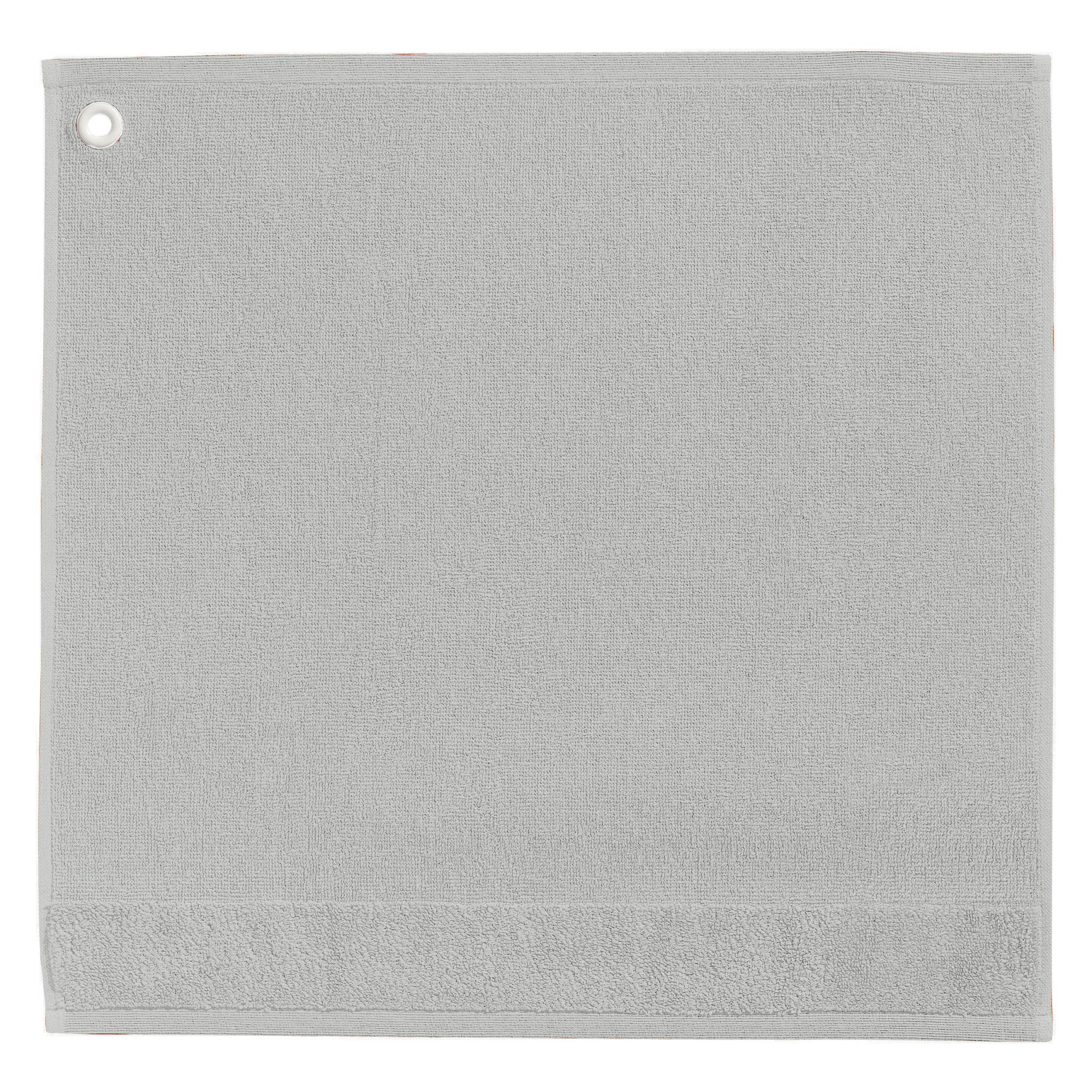 Essuie-mains en coton gris 50x50