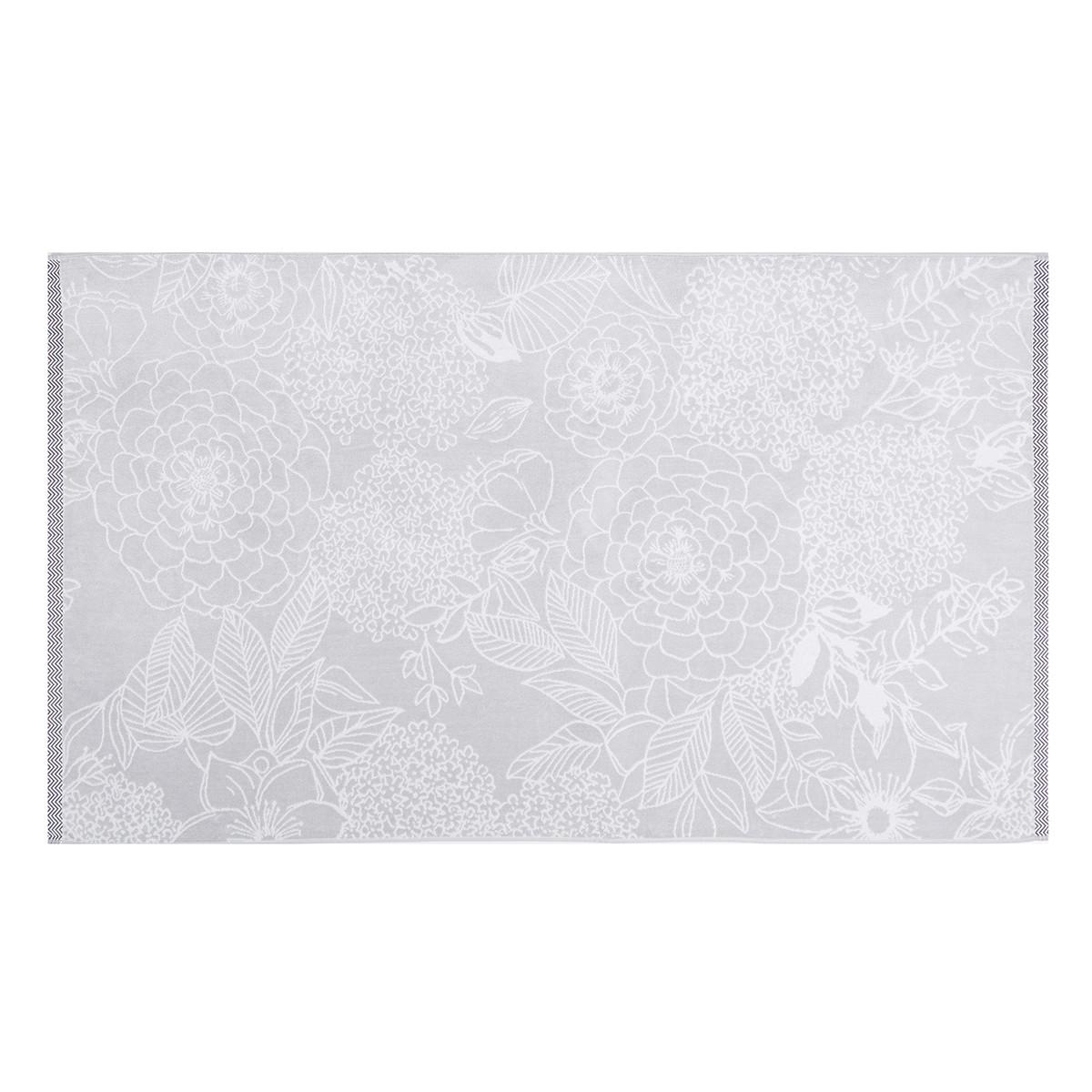 Drap de plage coton 100x180 cm gris clair