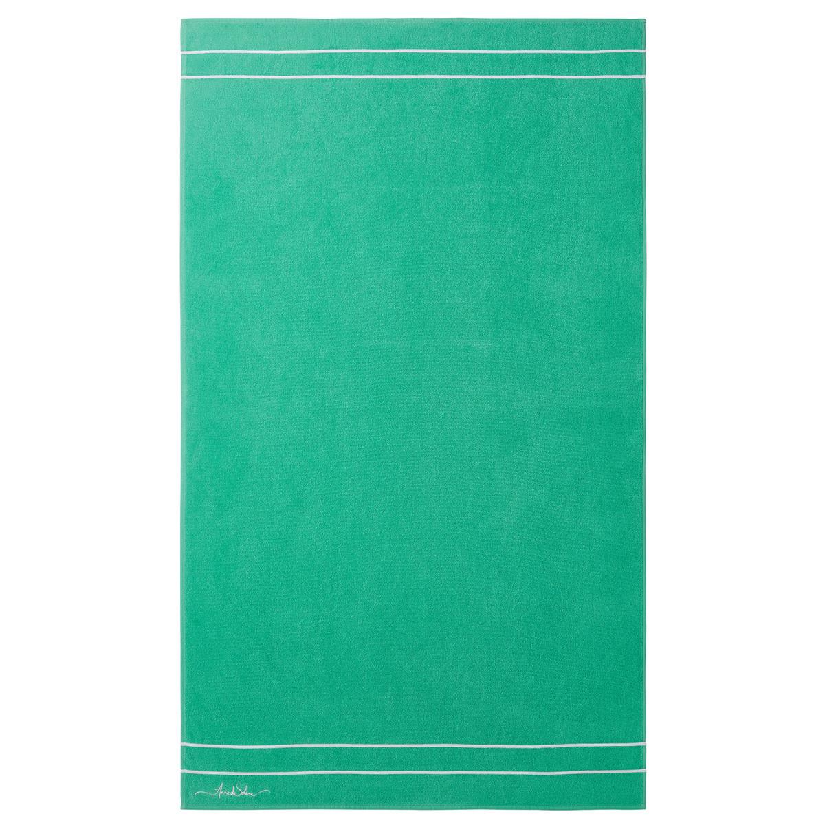 Drap de plage coton 90x160 cm vert d'eau