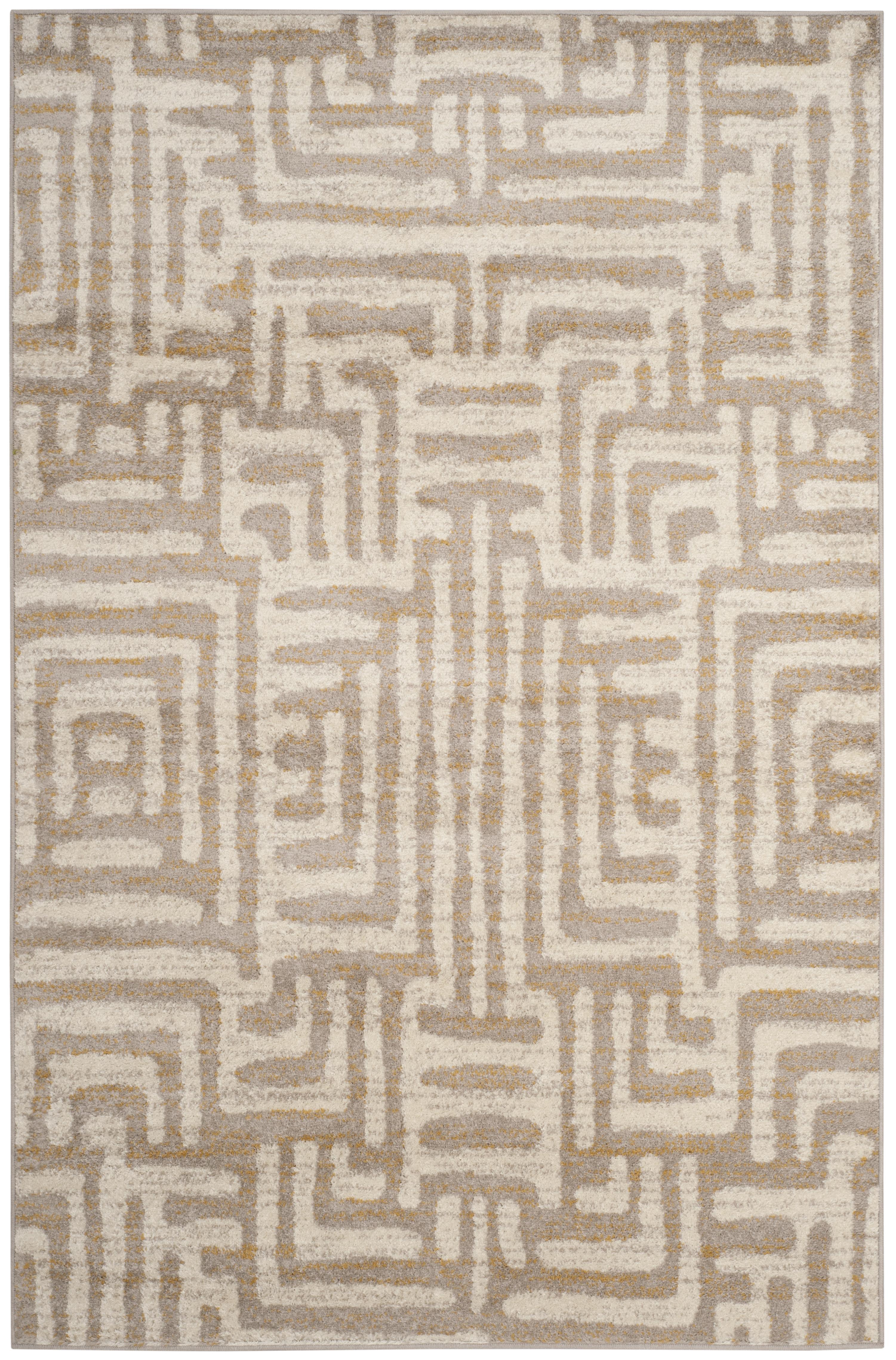 Tapis de salon contemporain  ivoire et mauve 160x230