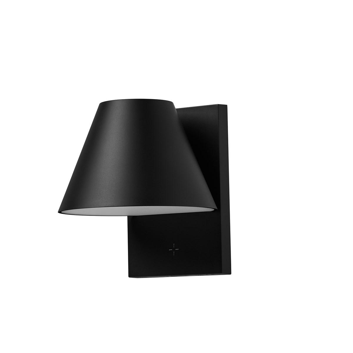 Lampe solaire pour fenêtre en ABS Noir