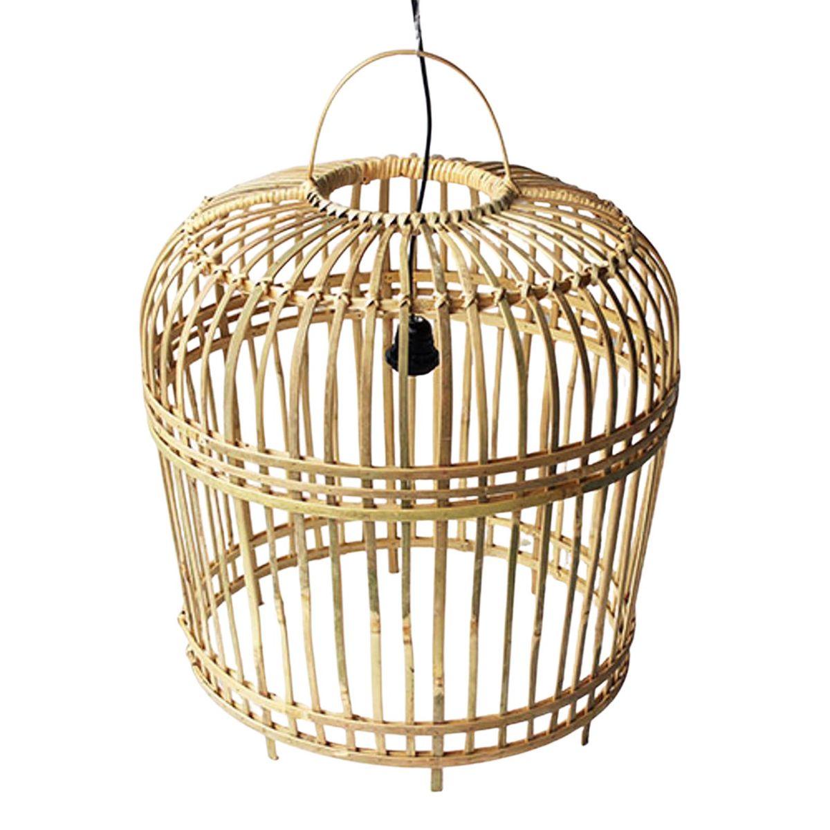 Suspension en bambou XL Open bois clair