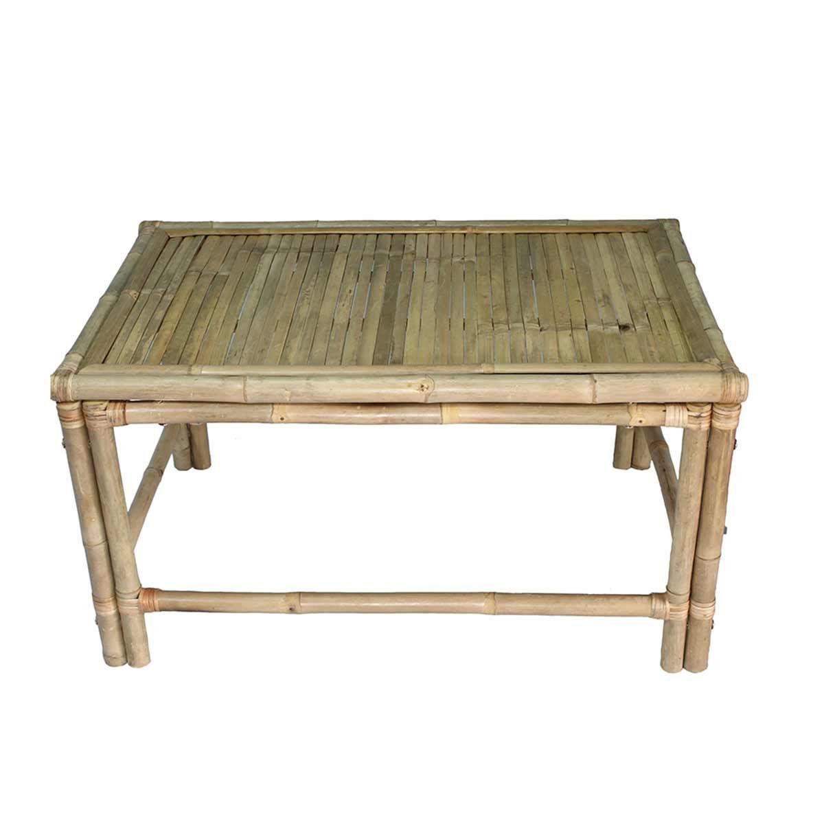 Table basse en bambou  bois clair